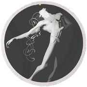Contemporary Ballet  Round Beach Towel