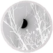 Dangling Moon Round Beach Towel