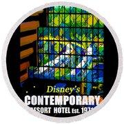 Contemporary Window To The World Round Beach Towel