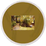 Contented Path Round Beach Towel