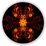 Continental Abstract Round Beach Towel