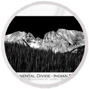 Continental Divide - Indian Peaks - Poster Round Beach Towel