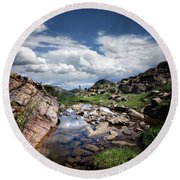 Continental Divide Above Twin Lakes 3 - Weminuche Wilderness Round Beach Towel