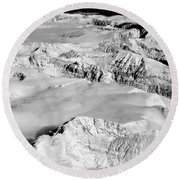 Continental Divide Clouds Rocky Mountains Round Beach Towel