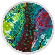 Contorted Canopy Round Beach Towel