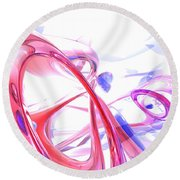 Contortion Abstract Round Beach Towel