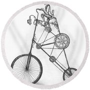 Contraption Round Beach Towel