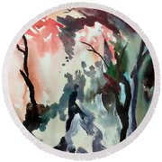 Contrasting Autumn Round Beach Towel