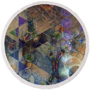 Controlled Chaos Round Beach Towel