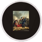 Conventional Battle Scene Round Beach Towel