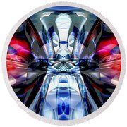 Convergence Abstract Round Beach Towel by Alexander Butler