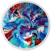 Convergence Of The Four Winds Round Beach Towel