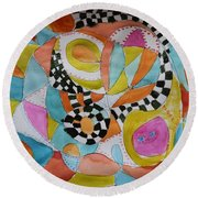 Conversation Round Beach Towel