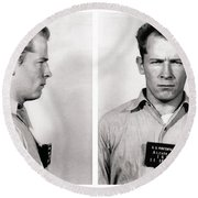 Convict No. 1428 - Whitey Bulger - Alcatraz 1959 Round Beach Towel