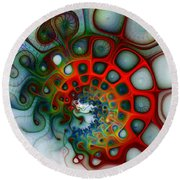 Convolutions Round Beach Towel