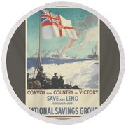 Convoy Your Country To Victory Round Beach Towel