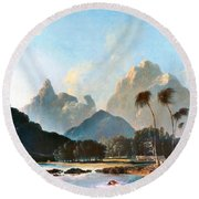 Cook: Tahiti, 1773 Round Beach Towel