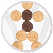 Cookie Man Round Beach Towel