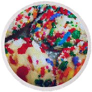 Cookies Mosaic Round Beach Towel
