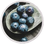 Cooking With Blueberries Round Beach Towel