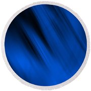 Cool Blue Flame Round Beach Towel