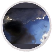 Cool Clouds Round Beach Towel