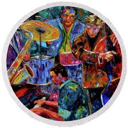 Cool Jazz Round Beach Towel