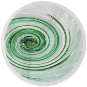 Cool Mint Whip Round Beach Towel