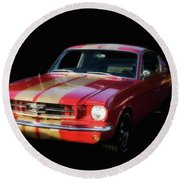 Cool Mustang Round Beach Towel