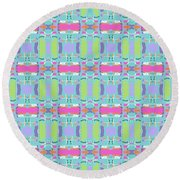 Cool Plaid No. 5 Round Beach Towel