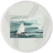 Cool Sail Round Beach Towel