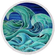 Cool Waves 3-  Round Beach Towel