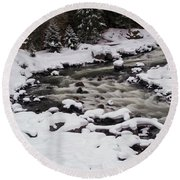 Cool Winding River Round Beach Towel