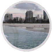 Coolangatta Sunset Round Beach Towel