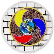 Coolearth Round Beach Towel