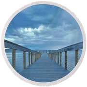 Cooling Sunset Round Beach Towel