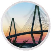 Cooper River Diamonds Round Beach Towel