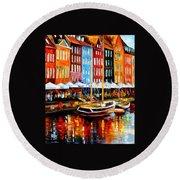 Copenhagen Denmark Round Beach Towel