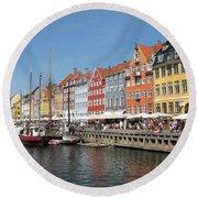 Copenhagen Harbor Round Beach Towel