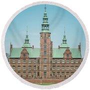 Copenhagen Rosenborg Castle Back Facade Round Beach Towel