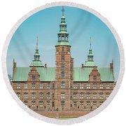 Copenhagen Rosenborg Castle Facade Round Beach Towel