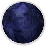 Copious Blue Round Beach Towel