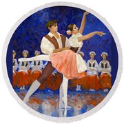Coppelia Round Beach Towel
