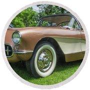 Copper 1967 Corvette  Round Beach Towel