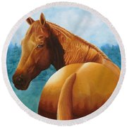 Copper Bottom - Quarter Horse Round Beach Towel
