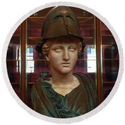 Copper Bust In Rome Round Beach Towel