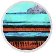 Copper Cliffs Beachside Round Beach Towel