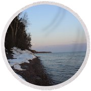 Copper Country Moonset Round Beach Towel