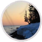 Copper Country Spring Sunrise Round Beach Towel