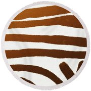 Copper Lines Round Beach Towel